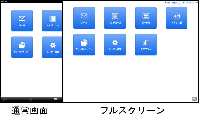 iPadのフルスクリーンモード