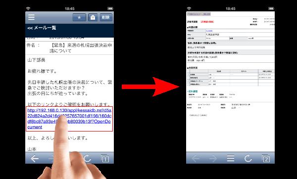 V5.1 R2におけるメール内リンクの挙動