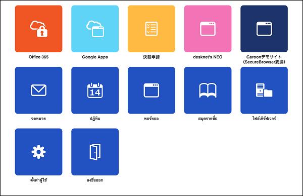 タイ語タブレットインターフェース